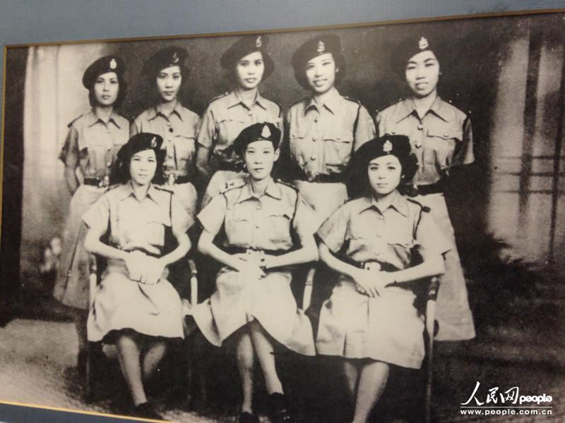 香港警队早期女警察的合照.(摄影:曹海扬)-香港警队成立170周年