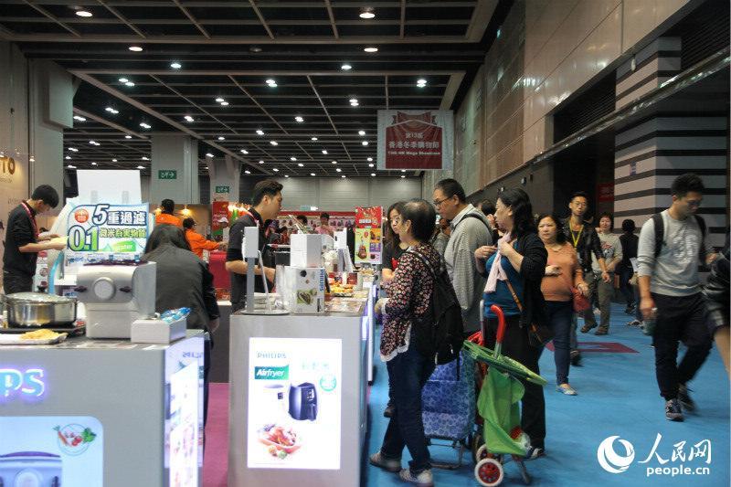 香港冬季購物節今日在香港會議展覽中心盛大開幕。(攝影:陳瑤)