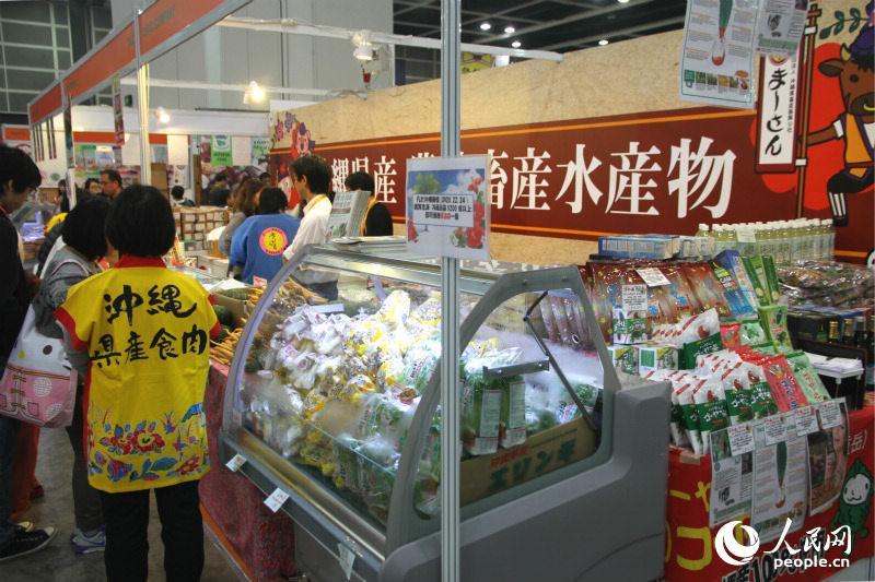 日本農林畜水産品匯集各式日本食材。(攝影:陳瑤)