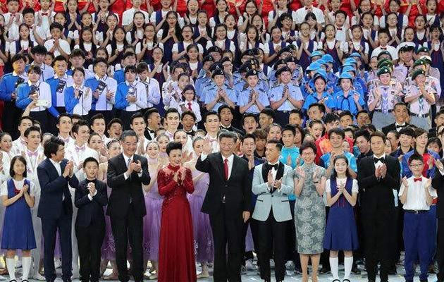 庆祝香港回归祖国20周年文艺晚会在香港举行 习近平出席观看