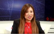 陈丹丹表示很荣幸可以在内地工作,让自己可以认识内地,体会到内地的经济发展,她认为我们正处在青年创业的最好时机。