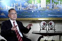 香港中华总商会会长接受记者专访