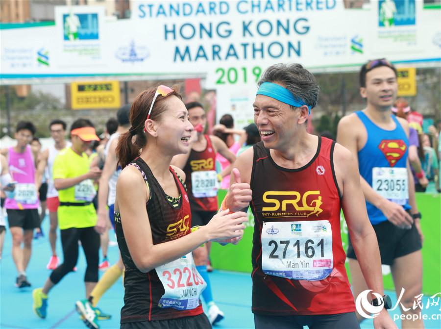 2019香港渣打马拉松开跑