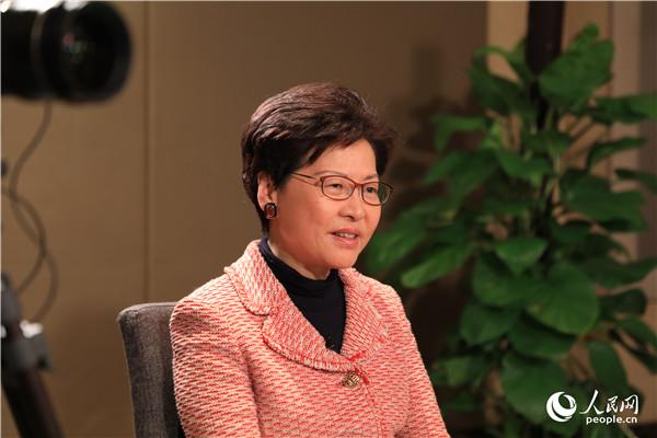 专访林郑月娥:2019年,香港要积极参与这