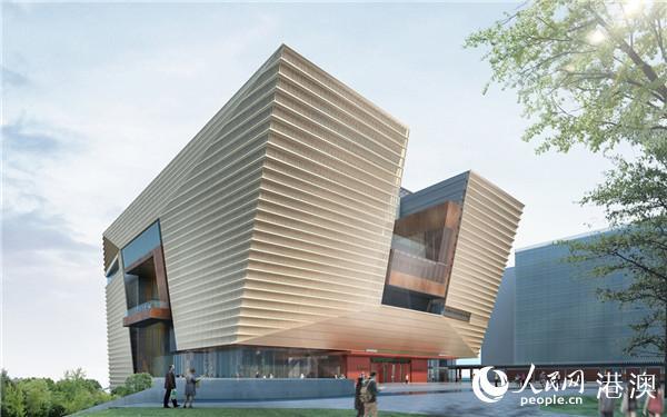 香港故宫文化博物馆东南面立面效果图 - 许李严建筑师事务所提供