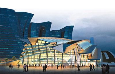 香港西九高鐵站設計曝光 弧形觀景臺可觀維港日落